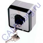 Ключ-выключатель с защитой цилиндра накладной 001SET-J
