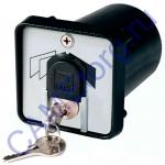 Ключ-выключатель с защитой цилиндра, встраиваемый 001SET-K