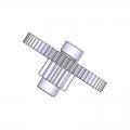 119RID443 Шестерня промежуточная редуктора OPB001