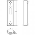DOCK 42 Улавливатель для замка-крюка, ширина 42 мм 1700054