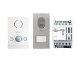 LCKITPEC04 Комплект аудиодомофона BPT PERLA белый лед с вызывной панелью LITHOS 61700090