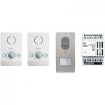 LCKITPEC04B Комплект 2х аудиодомофонов BPT PERLA белый лед с вызывной панелью LITHOS 61700110
