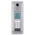 DDVC/08 VR Стальная монолитная вызывная панель BPT с цифр. видеокамерой, кодонаборной клавиатурой, информационным дисплеем и считывателем 62080010