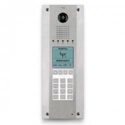 DDVC/08 VR ME1 Стальная монолитная вызывная панель BPT с цифровой видеокамерой, кодонаборной клавиатурой и информационным дисплеем 62080030