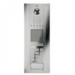 DDVC/08 VR ELU Стальная вызывная панель BPT со спец. покрытием, цифровой видеокамерой, кодонаборной клавиатурой, дисплеем и считывателем 62080040