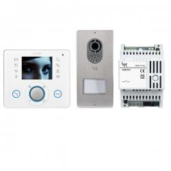 LVKITOPL04 Комплект видеодомофона BPT OPALE белый лёд c вызывной панелью LITHOS 62620630