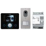 LVKITOPL14 Комплект видеодомофона BPT OPALE чёрный лак c вызывной панелью LITHOS 62620640