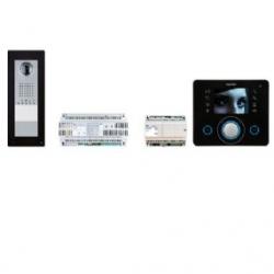 KIT APP OPL BK Комплект видеодомофона BPT OPALE чёрный лак с вызывной панелью THANGRAM для iOS и Android 62620910