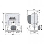Привод для откатных ворот 001BK-2200